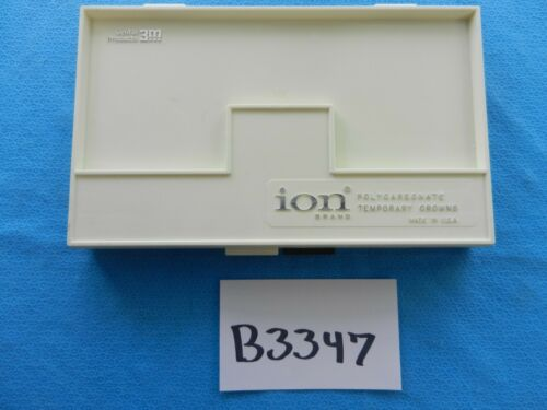 3M Surgical Dental ION Polycarbonate Temporary Crowns Set W/ Case