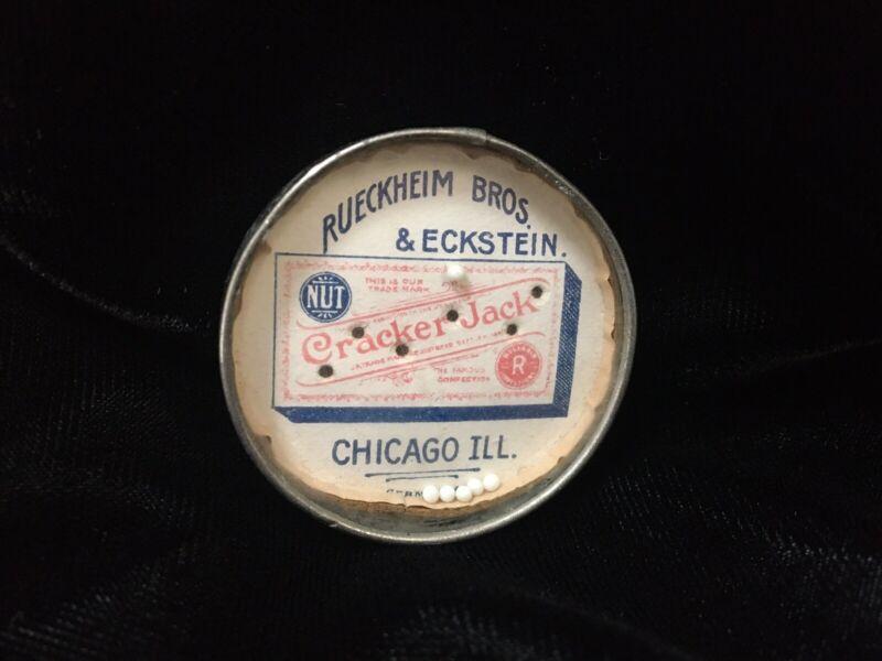 Antique Cracker Jack Dexterity Puzzle Mirror Rueckheim Bros Eckstein Germany Toy