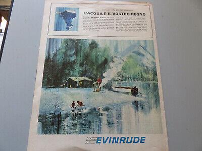 Advertising On Page Original Years 50/60 Advertising Vintage Evinrude Nautical