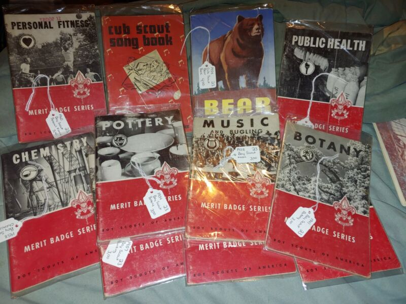 Vintage Lot of Cub Scout Books Song Merit Badge Series 1954 1955 1957 1958 1960