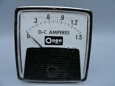 Ge Dc 0 - 1.5 Amps Analog Ammeter Panel Mount Pointer Current Meter Gauge