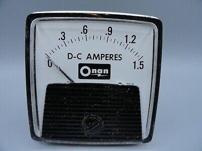 Ge Dc 0 - 1.5 Amps Analog Ammeter Panel Mount Pointer Current Meter Gauge