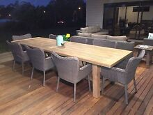 Wicker outdoor dining chairs Karalee Ipswich City Preview