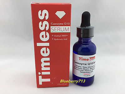 New In Box  Timeless Coenzyme Q10 Hyaluronic Acid Serum 1Fl Oz   30Ml