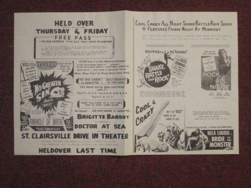 Bride Of The Monster -Original 1950`s Movie Herald- Rock + Roll - Lugosi