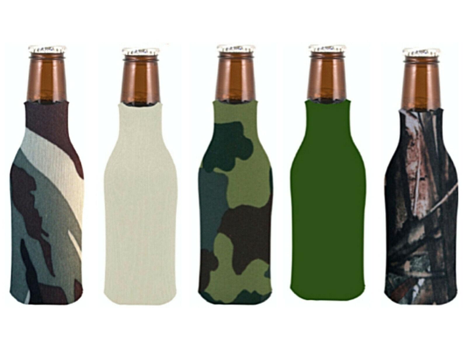 Blank Foam Can & Bottle Coolers Zipper Beer Bottle Coolies K