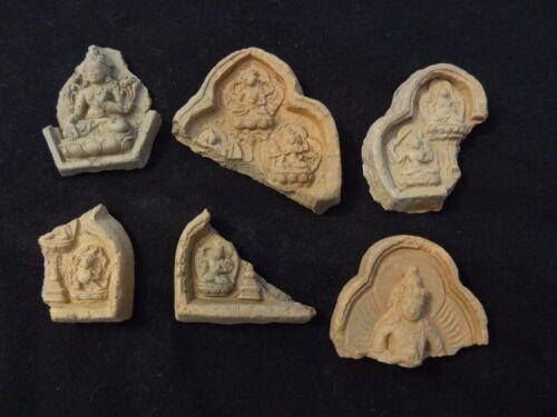 ANTIQUE MONGOLIAN TIBETAN BUDDHIST VARIOUS CLAY TSA TSA fragments