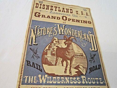 """1960 """"Disneyland USA"""" Grand Opening Nature"""