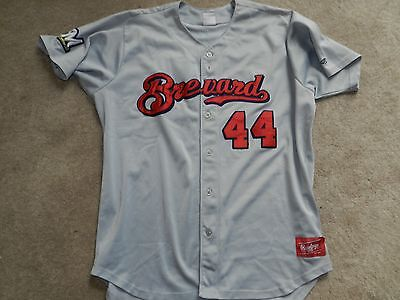 1dc89ae9b27 2013 Brevard County Manatees Game Used Road Jersey  44 Cody Hawn Brewers