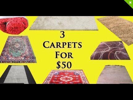 Quality Full Size Rugs 3 for $50 Bucks!