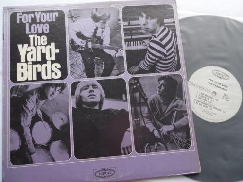 THE YARDBIRDS Original 1965__MONO__For Your Love LP__WHITE LABEL PROMO