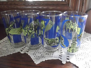 'Coke' Coca-Cola 1776 Heritage Collection 4 Glasses tumblers Bold Graphics