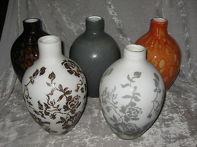 Urn Style Vase Hand Blown Glass Decorative Flowers Table Hom