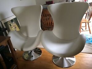 Pair of egg chairs