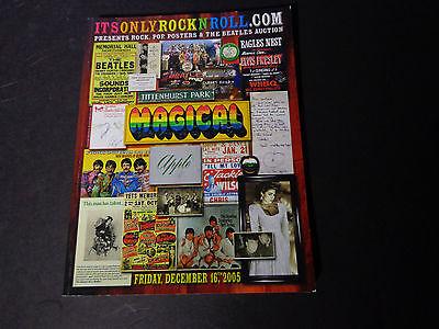 IT'SONLYROCKNROLL AUCTION-CATALOG -Rock,Pop,&Beatles 12/05