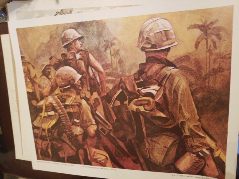"Vietnam Era USMC Marine Corps Combat Art Collection ""Operation Essex""  20 × 16"
