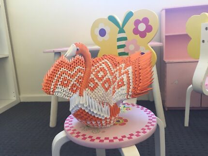 3D origami peacock