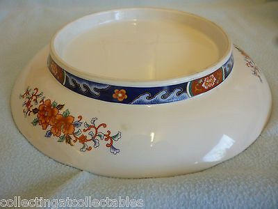 Large Footed Chinese / Japanese Imari Charger Bird In Flora Pattern