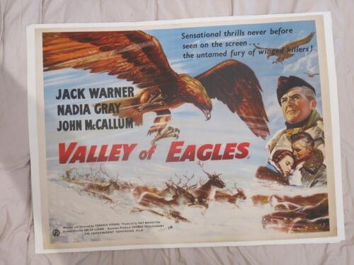 VALLEY OF THE EAGLES 1951 UK BRITISH QUAD FILM POSTER Jack Warner Nadia Gray