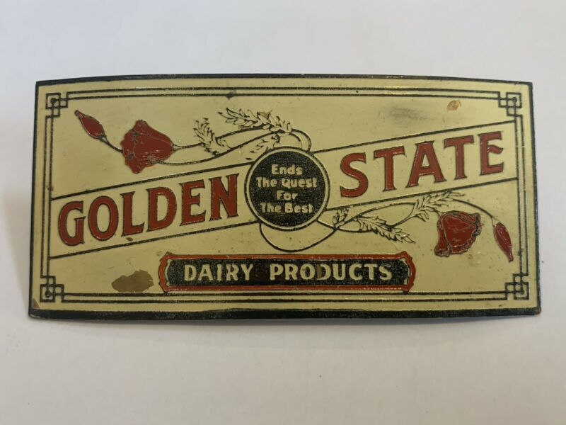 Golden State Dairy Hat Badge