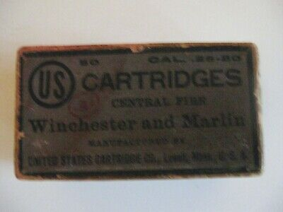 Henry Rifle LABEL STICKER 44 Cal ammo box 50 cartridges old west Winchester 1873