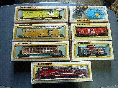Vintage BACHMANN Chrome GE U36B Diesel Santa Fe HO Train set #2