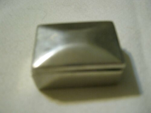 """Taxco PMP TM-46 Mexico 925 Sterling Pill Box, Vaulted Lid 1"""" x 1.5"""", 27.7 grams"""