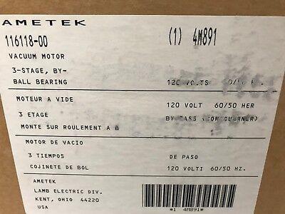 Ametek 116118-00 4m891- Vacuum Motor