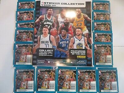 2019-20 Panini NBA Basketball Sticker Collection 15 Packs with Album Clearance comprar usado  Enviando para Brazil
