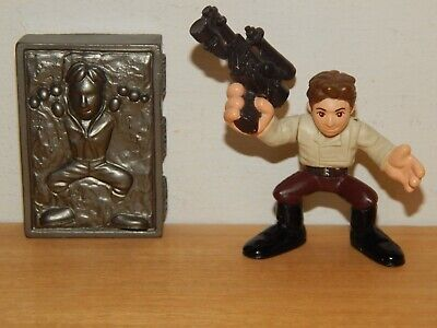 STAR WARS GALACTIC HEROES HAN SOLO AND CARBONITE ACTION FIGURE #P
