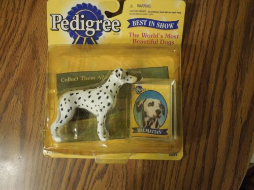 1998 Pedigree Best in Show Dalmatian toy & collector card #29110
