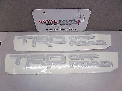 Toyota Tacoma TRD Off Road Decal Emblem Sticker Kit Light Script Genuine OE OEM