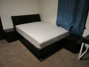 Queen size bed with matress, bedside table, tallboy Pennant Hills Hornsby Area Preview