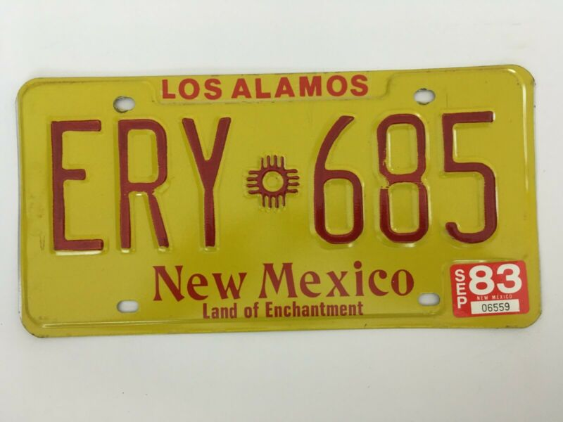 1983 New Mexico License Plate Natural Sticker