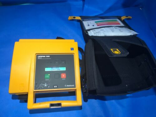 Physio Control LP500 Biphasic AED with case NEEDS NEW BATTERY