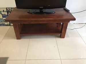 Timber TV table Elanora Heights Pittwater Area Preview