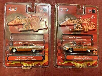 2 - 1976 & 1977 AMERICAN GRAFFITI CHEVY CAPRICE RARE ERROR MOTOR MAX DEMO CAR