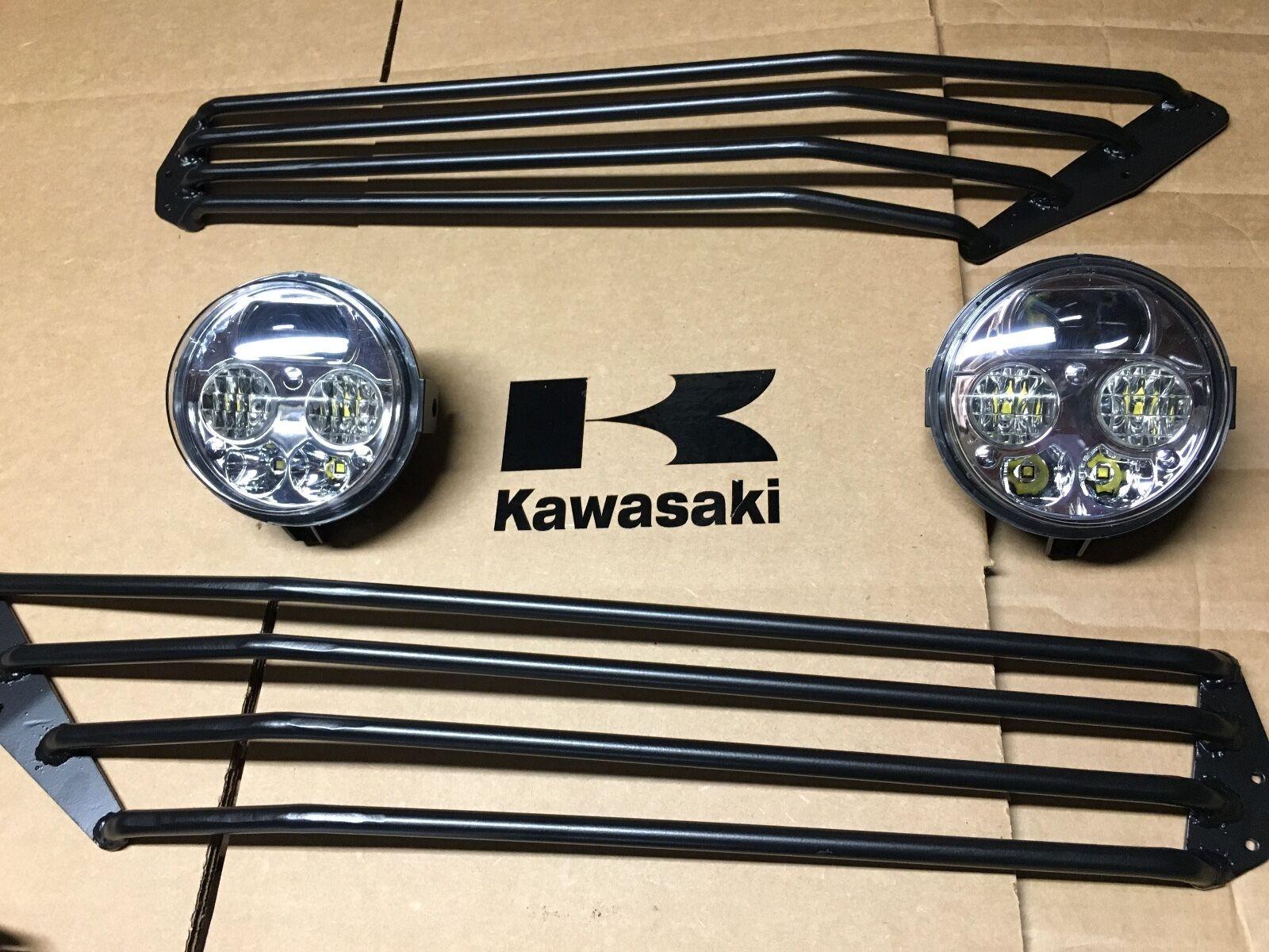 10-15 KAWASAKI TERYX LED HEADLIGHTS CONVERSION KIT+ GUARDS!! USA - teryx4