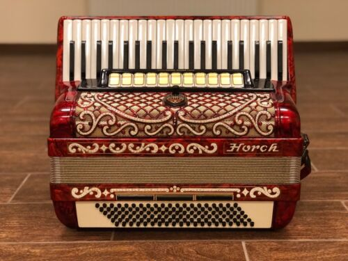 HORCH DELUXE LUXURIOUS VINTAGE GERMAN CONCERT PIANO ACCORDION 12 REG 120 BASS 🎹