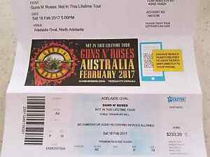 Guns n Roses ticket Adelaide good seat Kadina Copper Coast Preview