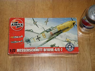 WW#2, Bf109E-4/E-7, German Fighter Plane, Plastic Model Kit, Scale 1/72