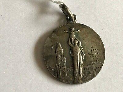 Pendant Medal Religious La Virgin Martyre Solid Silver REF52034