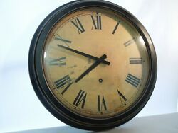 Antique Style Wall Clock Black with Gold Trim Quartz Movement 18 Diameter
