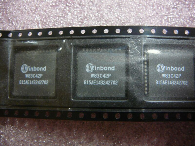 WINBOND W83C42P Keyboard Controller IC 44-PLCC  **NEW**
