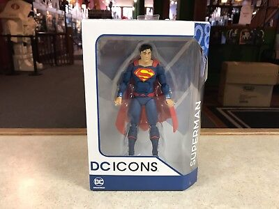"2017 DC ICONS Direct SUPERMAN Rebirth NEW 6"" Inch Action Figure"