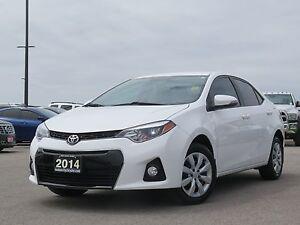 2014 Toyota Corolla s! Low Km's! Certified!