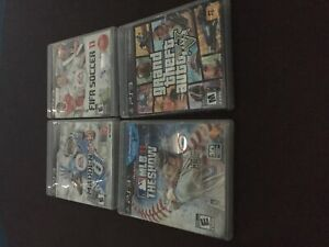 4 ps3 games-MLB 11 the show, GTA V, madden 13 and fifa soccer 11