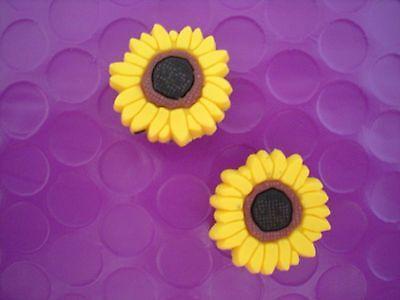 Jibbitz Croc Clog Shoe Plug Charm 2 Sun Flower Fit Bracelet Holey Accessories