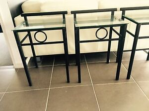 Glass side tables/Bedside Wongawallan Gold Coast North Preview