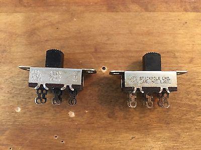 Stackpole DPDT Center On/Off Slide Switch 125V AC 3 Amp - Dpdt Slide Switch